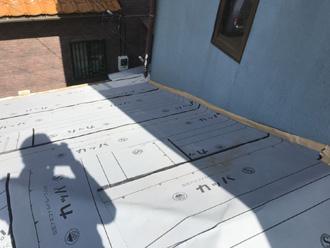 平塚市高浜台 屋根葺き替え工事 防水紙設置