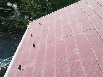 屋根材表面の色褪せ