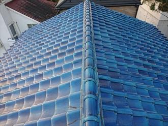 築30年経過した青緑色の瓦屋根