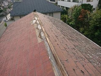 築30年一度も塗装をしていないスレート屋根