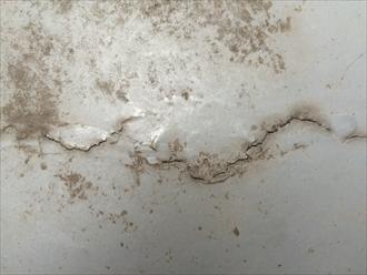 座間市東原でバルコニー床の防水調査、防水層のひび割れは雨漏りの危険性があります