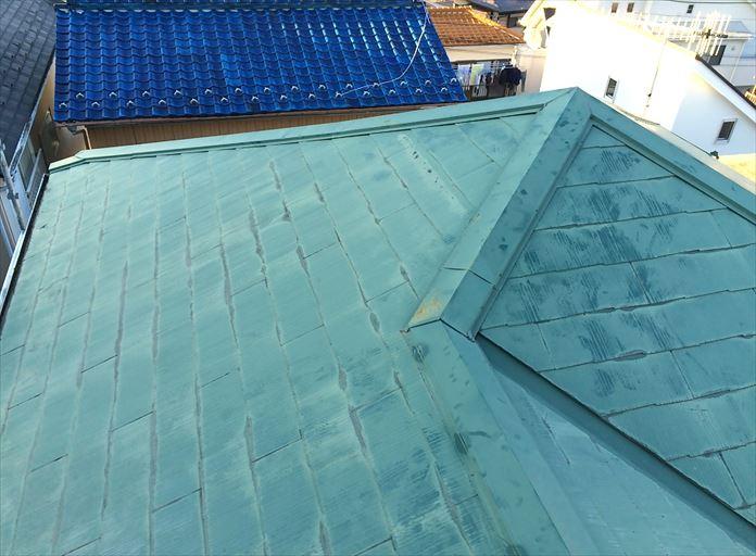 過去に塗装をしているスレート屋根
