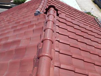 愛甲郡愛川町角田 屋根葺き直し工事前の屋根