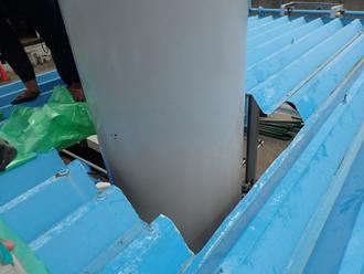 愛甲郡清川村煤ヶ谷 水切り板金取付け前の屋根