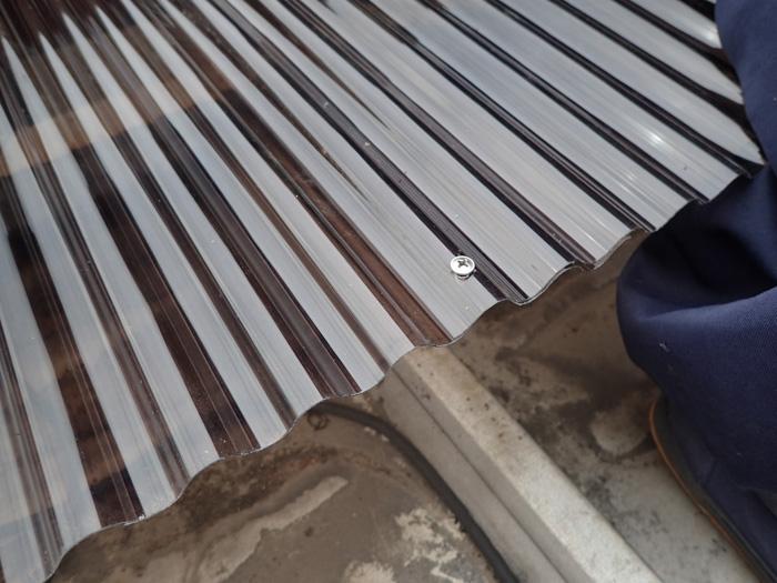 厚木市中依知 工場の波板交換工事 完工