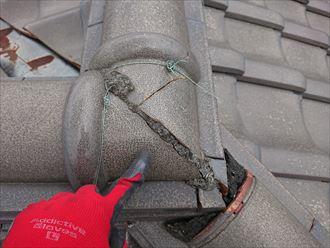 瓦と瓦の隙間の詰め物はメンテナンスが必要