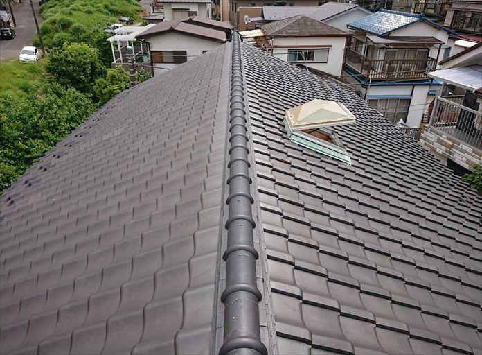 粘土瓦を使用した屋根の調査