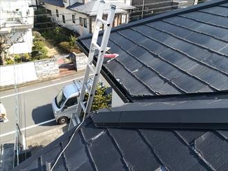 屋根調査開始