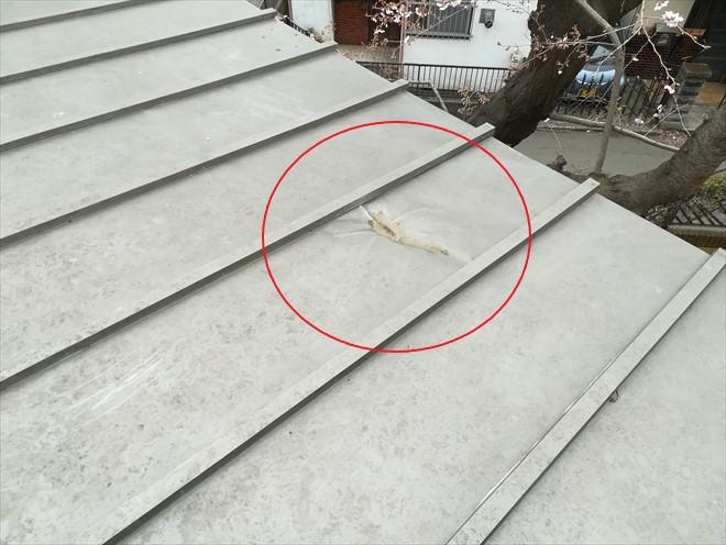 屋根の凹み部分