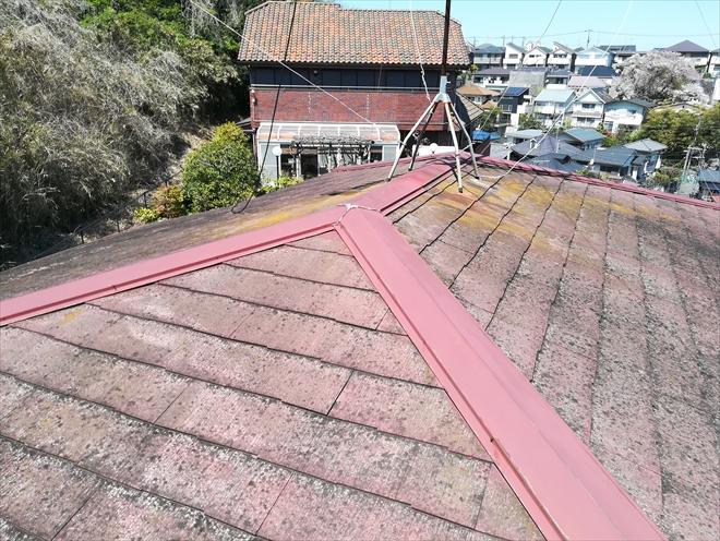 横浜市港北区仲手原にてコロニアルクアッドのココナッツ・ブラウンにて屋根葺き替え工事