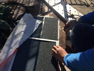 オークリッジスーパーの棟材を切り分けるために計測