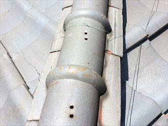 海老名市社家にて瓦屋根も定期的なメンテナンスが必要となる箇所がございます