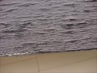 塗膜が剥がれささくれの様な状態の破風板