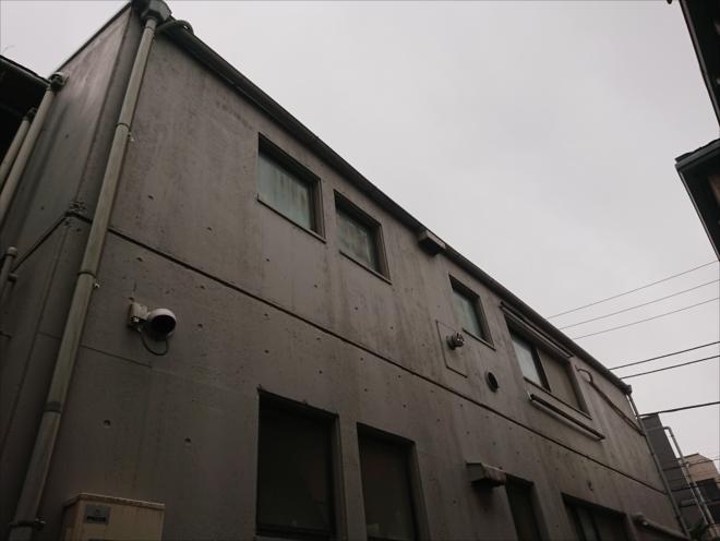 コンクリート造の外壁の様子
