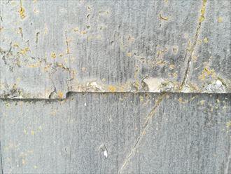スレートは過去に塗装しても傷んできます