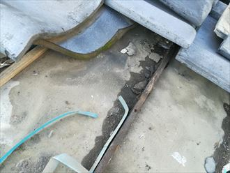 防水紙が傷んで雨漏り発生