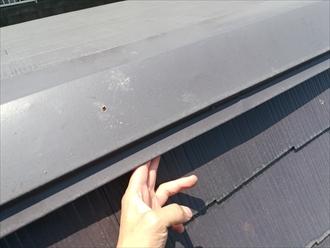 屋根棟板金の浮き