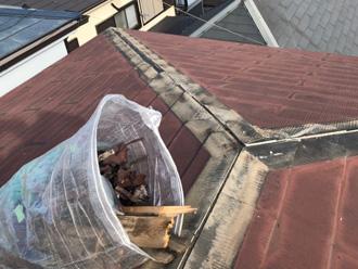 足柄上郡大井町山田にて棟板金破損をきっかけに屋根カバー工法を実施しました