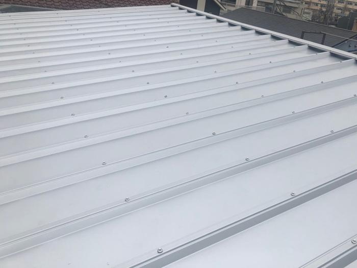 鎌倉市高野 セキスイかわらUの屋根の葺き替え工事 カバールーフ455設置