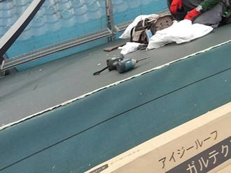 横須賀市池上 屋根葺き替え工事 スーパーガルテクト設置