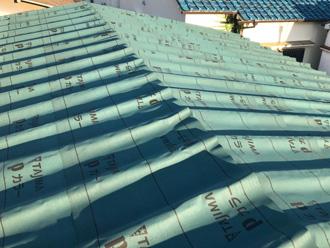 鎌倉市玉縄 屋根葺き替え工事 防水紙設置