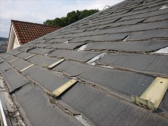 軒から見ている屋根の様子