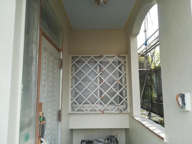 外壁塗装上塗り後