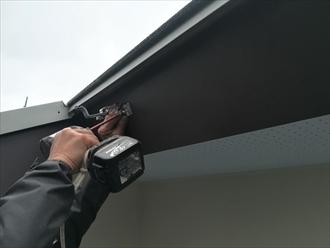 破風板板金巻き・雨樋設置工事