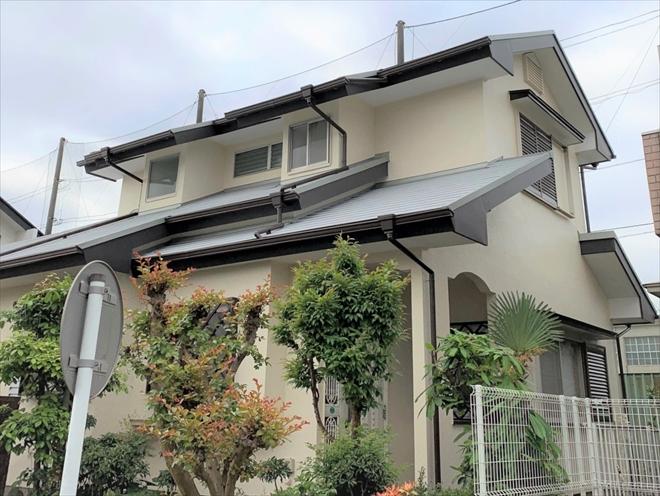屋根葺き替え・外壁塗装工事完成