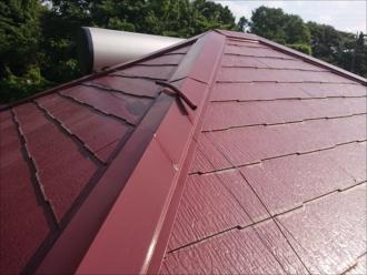 塗装したばかりで綺麗な化粧スレート屋根