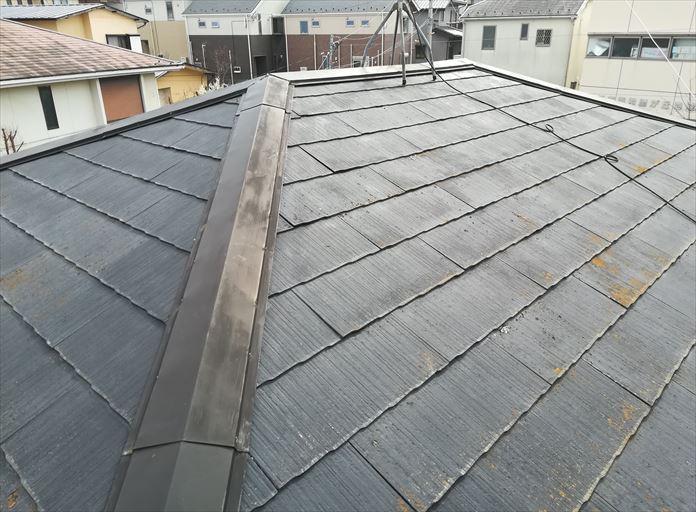 過去に屋根塗装をしているスレート屋根の点検