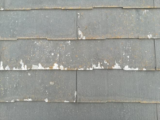 屋根材の表層剥離