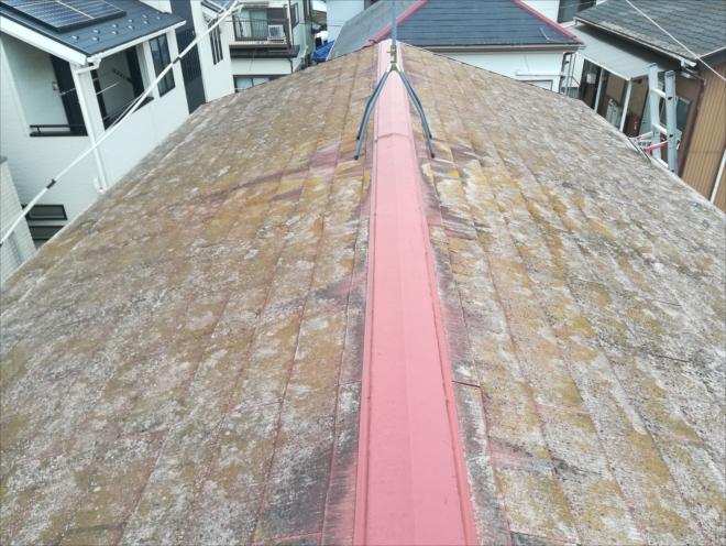 築35年、ノーメンテナンスのスレート屋根