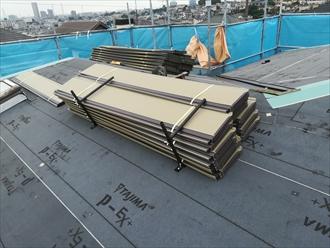 横浜市港北区篠原台町にてヒランビー220で屋根カバー工事
