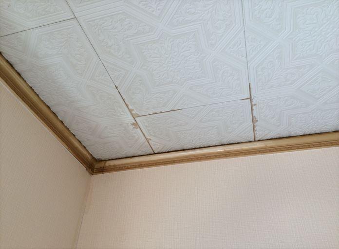 1階の天井から雨漏り発生