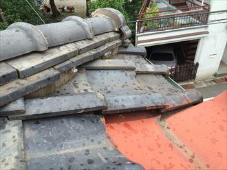 棟瓦の不具合は棟瓦取り直し工事で解消
