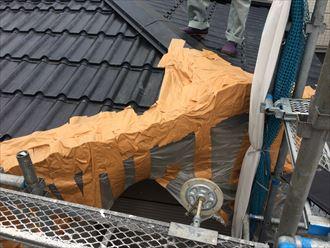 逗子市桜山で軒先を切断した金属屋根を点検いたしました
