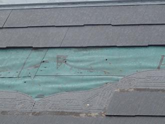 厚木市下荻野 強風で外れたスレート屋根の寄り