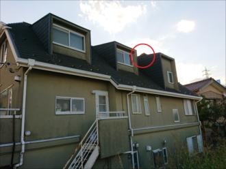 ドーマー屋根のめくれ