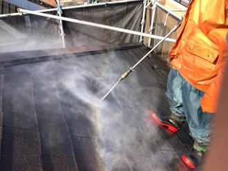 伊勢原市見附島 屋根塗装 高圧洗浄
