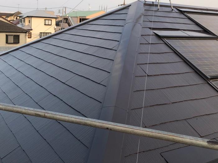 伊勢原市見附島 屋根塗装 サーモアイSiで塗装完了