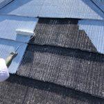 伊勢原市見附島にて塗装時期を迎えたスレート屋根の遮熱塗料による屋根塗装