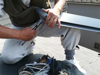 GL鋼板の加工