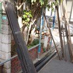 綾瀬市深谷上にて経年で浮いて外れそうな棟板金の交換工事
