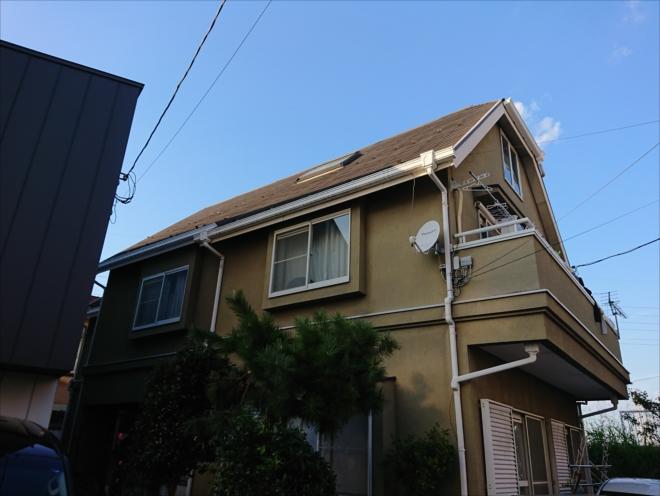 急勾配屋根の調査は足場が必要
