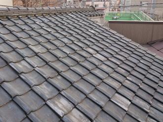 綾瀬市寺尾西 屋根葺き替え工事前の瓦屋根