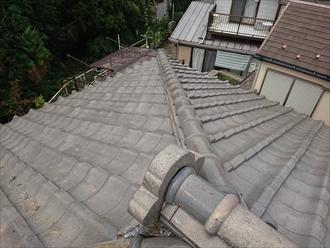 和瓦が使われた築40年経過した屋根