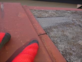 飛散していない箇所も釘浮きが多く見られ飛散するのも時間の問題