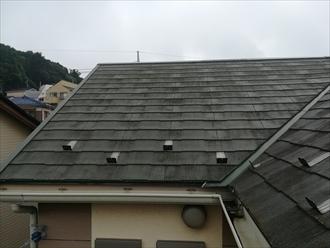 横浜市港北区師岡町にて築10年の屋根棟板金の浮きの指摘も異常なし