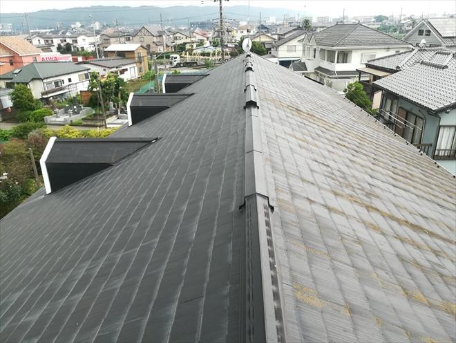 2階建てアパート屋根の様子